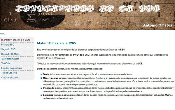Matemáticas en la ESO – Blog de Antonio Omatos